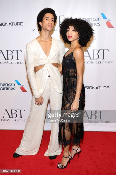 Dancers Melvin Lawovi and Erica Lall attend the American Ballet Theatre's Fall Gala at David H. Koch Theater at Lincoln Center on October 26, 2021 in...