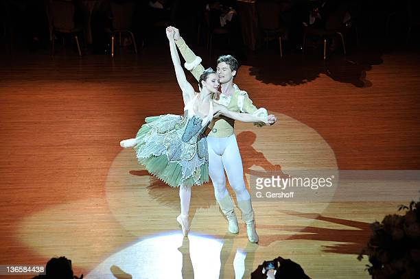 Dancers Mila Schmidt and Gregor Hatala perform during the 56th annual Viennese Opera Ball at The Waldorf=Astoria on February 4, 2011 in New York City.