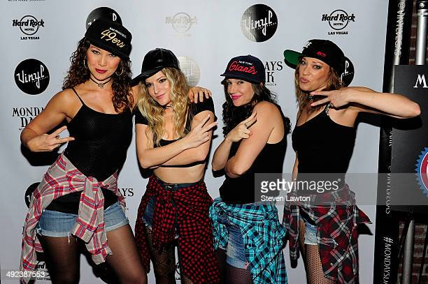 Dancers Nikka Wahl Nicole Kaplan Lauren Tartaglia and Sarah Lowe arrive at 'Mondays Dark With Mark Shunock' benefiting the NF Network at Vinyl inside...