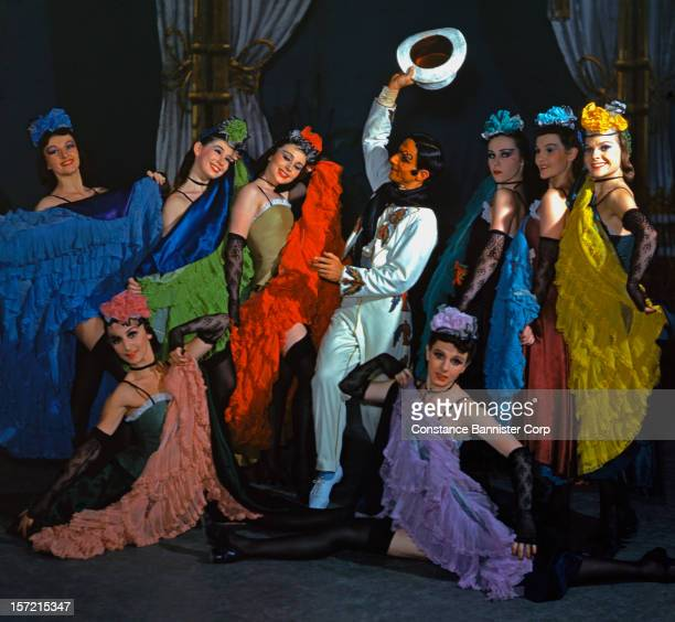 Dancers of the Ballet Russe de Monte Carlo perform a scene from the ballet 'Gaîté Parisienne' by Léonide Massine at the Metropolitan Opera in New...