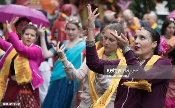Dancers of the formation 'Shobha Yatra' participate in the 22nd Carnival of Cultures despite rainy weather in Berlin Germany 4 June 2017 According to...