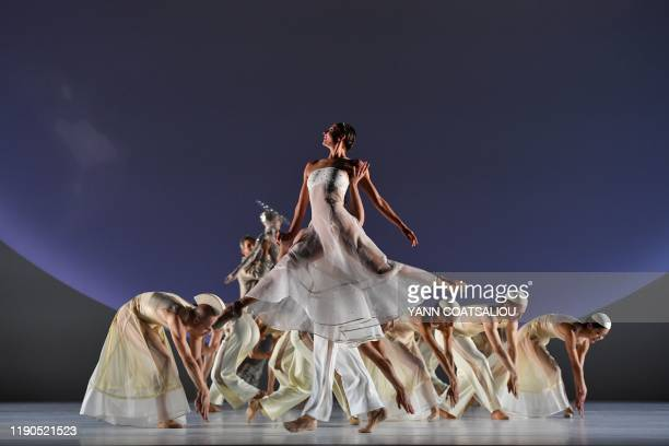 Dancers of the MonteCarlo ballet performs in CoppeliA a creation by French dancer and choreographer JeanChristophe Maillot on December 26 in Monaco...