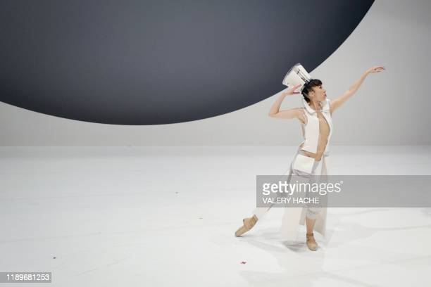 A dancers of the MonteCarlo ballet rehearses on stage the ballet show CoppeliA a creation by French dancer and choreographer JeanChristophe Maillot...