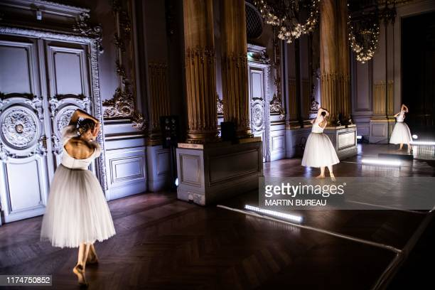 """Dancers of the Paris Opera Ballet perform during the dancing show """"Degas Danse"""" on the sidelines of the exhibition """"Degas at the Opera"""" at the Orsay..."""