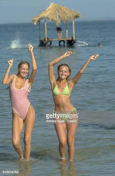 Dancers on the beach