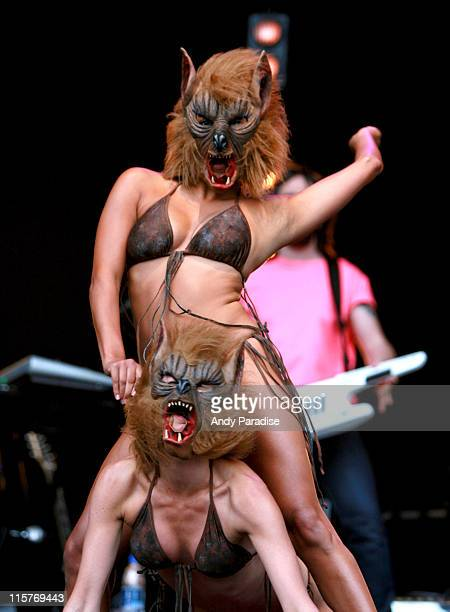 Dancers onstage with Goldfrapp during O² Wireless Festival 2006 – Leeds – Day 1 at Harewood House in Leeds Great Britain
