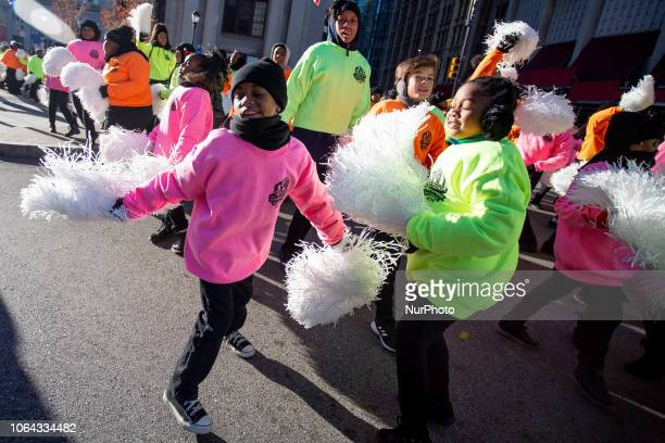 Dancers participate in the Thanksgiving Day Parade in Philadelphia, November 22, 2018. Those who came out along the parade route on the Benjamin...