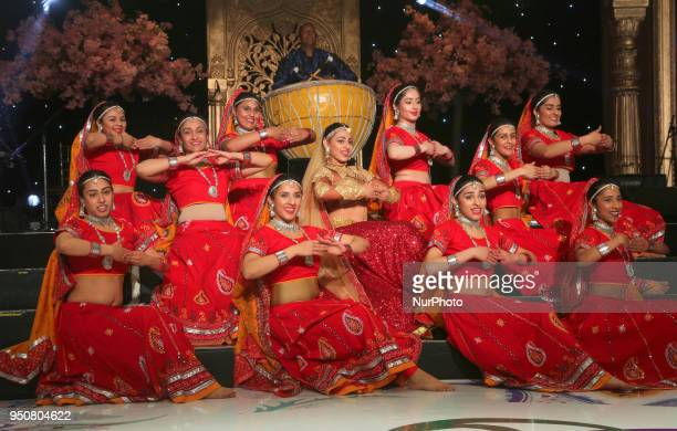 Dancers perform an alluring dance to the Ghoomar song from the Bollywood film Padmavati during the William Osler Health Foundation's Holi Gala Event...