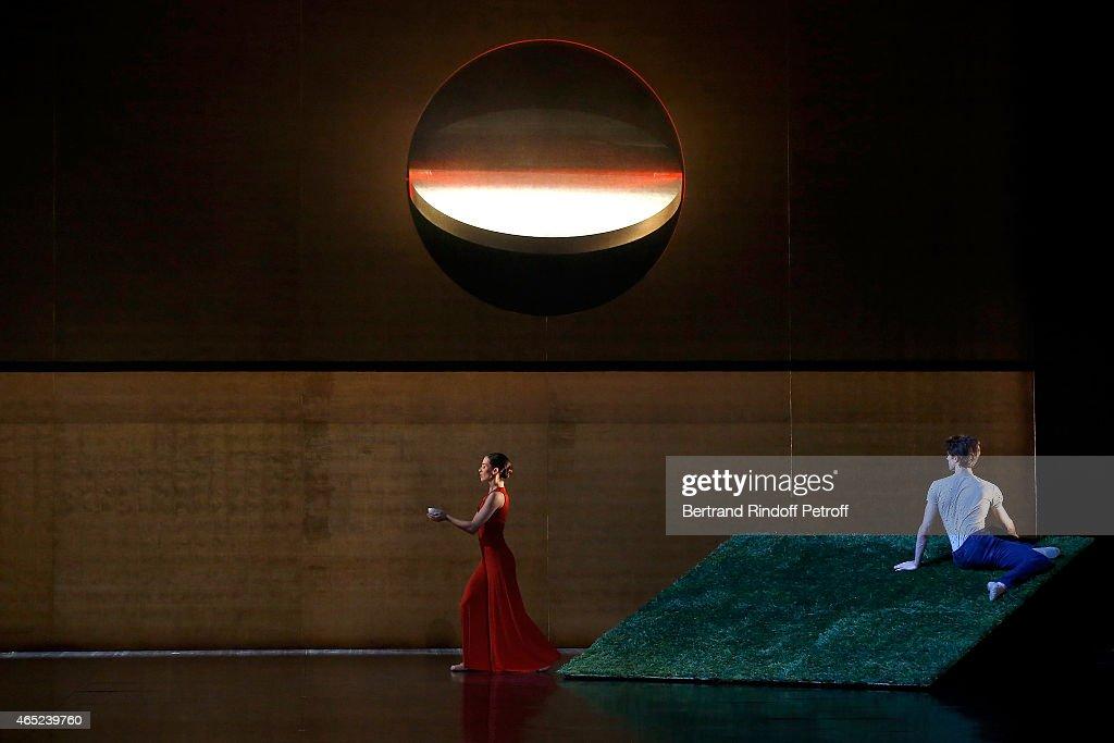 Dancers perform at Le Chant De La Terre AROP Charity Gala at Opera Garnier on March 4, 2015 in Paris, France.