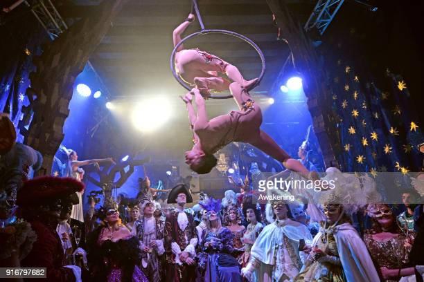 Dancers perform at Palazzo Pisani Moretta during the annual Ballo del Doge on February 10 2018 in Venice Italy The Ballo del Doge created by fashion...