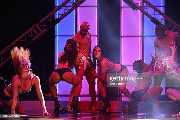 Dancers perform at the 2014 Sexpo at Gallagher Estate on September 25 2014 in Johannesburg South Africa The sex exhibition will take place from...