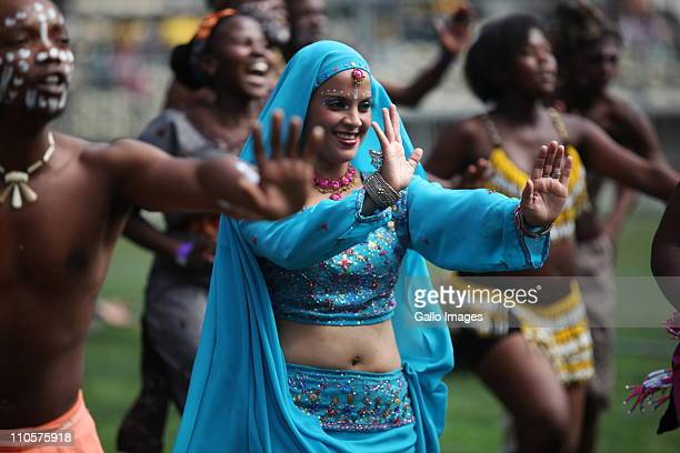 Dancers perform at the Human Rights Day celebrations at Athlone Stadium on 21 March 2011in Cape Town South Africa Thousands of people gathered at...