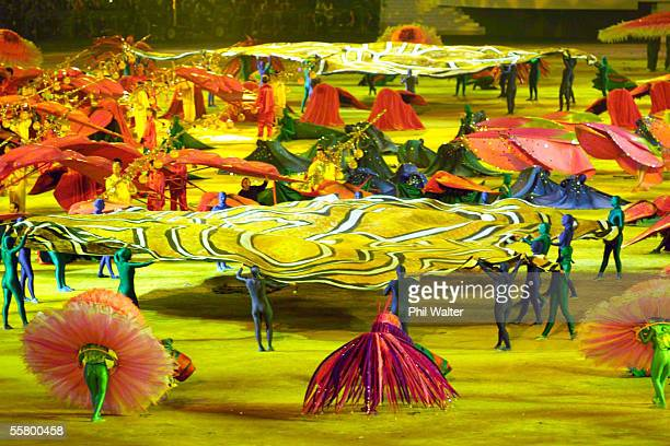 Dancers perform at the opening ceremony of the Sydney 2000 Olympic games held at Stadium Australia, Friday.