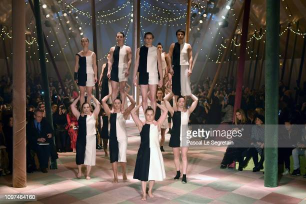 Dancers perform at the runway during the Christian Dior Spring Summer 2019 show as part of Paris Fashion Week on January 21 2019 in Paris France