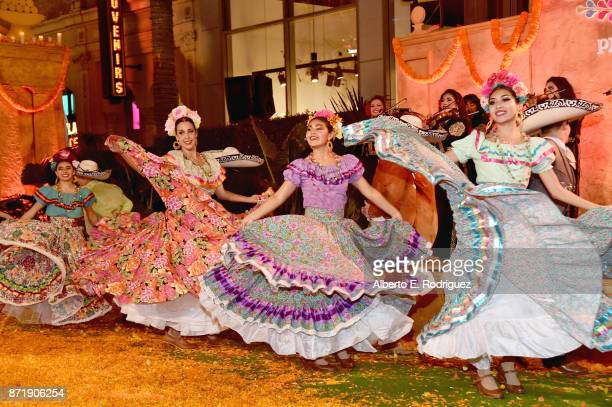 Dancers perform at the US Premiere of DisneyPixar's 'Coco' at the El Capitan Theatre on November 8 in Hollywood California