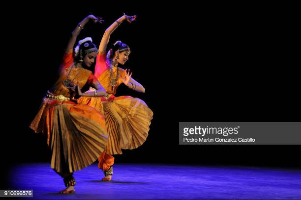 Dancers perform Bharatanatyam de Arupa Lahiry traditional dance from India during the celebration of the 100th anniversary of the Theater of the City...
