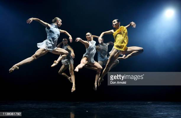 Dancers perform during a media preview at Roslyn Packer Theatre on March 25 2019 in Sydney Australia Sydney Dance Company's 50th Anniversary Triple...