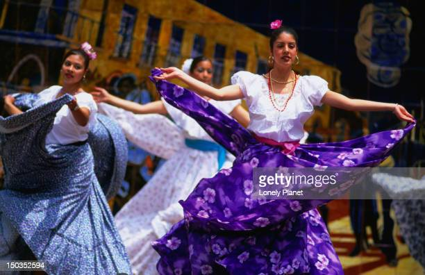 dancers perform during celebrations for cinco de mayo or '5th of may' on olvera street in los angeles. - cinco de mayo stock photos and pictures