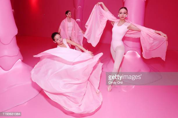 Dancers perform during Museum of Ice Cream SoHo Flagship Opening Party on December 12 2019 in New York City