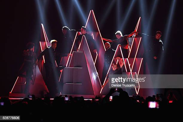 Dancers perform during opening night of the Selena Gomez 'Revival World Tour' at the Mandalay Bay Events Center on May 06 2016 in Las Vegas Nevada