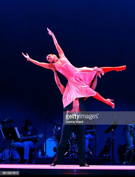 Dancers perform during the Alvin Ailey American Dance Theater Dress Rehearsal of 'Blues Suite' at New York City Center on December 15 2015 in New...