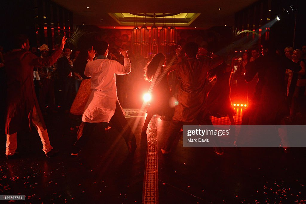 Dancers perform during the Bollywood Party at the W Hotel during the 2012 Doha Tribeca Film Festival on November 20, 2012 in Doha, Qatar.
