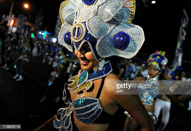 Dancers perform during the ''Carnaval Alegria por la Vida '' in Managua on March 26 2011 AFP PHOTO/Elmer MARTINEZ