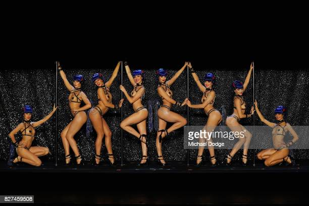 Dancers perform during the Crazy Horse Paris 'Forever Crazy' media call on August 8 2017 in Melbourne Australia