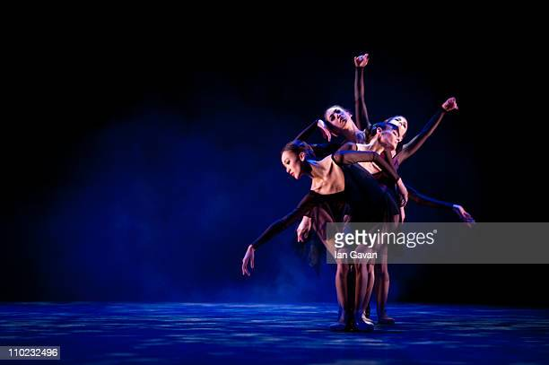 Dancers perform during the English National Ballet Black White Photocall on March 16 2011 in London England