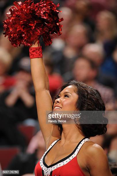 Dancers perform during the game between the Chicago Bulls and the Charlotte Hornets on December 5 2015 at the United Center in Chicago Illinois NOTE...