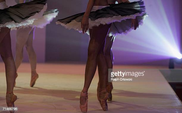 Dancers perform during the Global Sport Style Award 2006 at GQ Ispovision Style Night, the International Tradeshow for Sportstyle, on July 17, 2006...