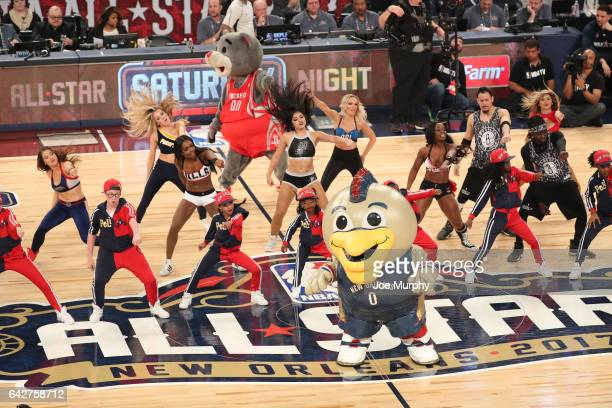 Dancers perform during the JBL ThreePoint Contest during State Farm AllStar Saturday Night as part of the 2017 NBA AllStar Weekend on February 18...