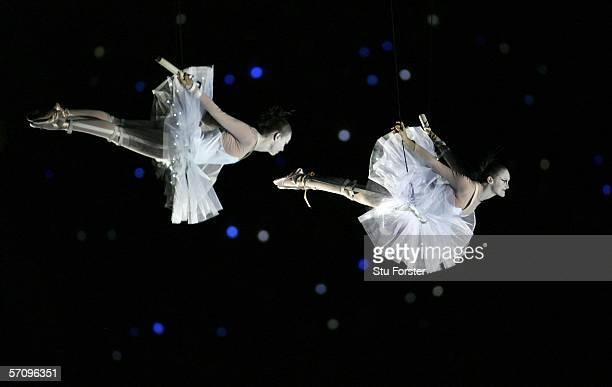 Dancers perform during the Opening Ceremony for the Melbourne 2006 Commonwealth Games at the Melbourne Cricket Ground March 15, 2006 in Melbourne,...