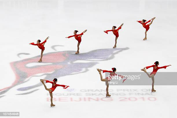 Dancers perform during the opening ceremony of ISU Grand Prix and Junior Grand Prix Final at Beijing Capital Gymnasium on December 9 2010 in Beijing...