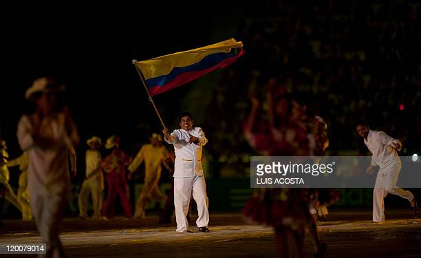 Dancers perform during the opening ceremony of the FIFA Under20 World Cup football tournament at the Metropolitano stadium in Barranqilla Colombia on...