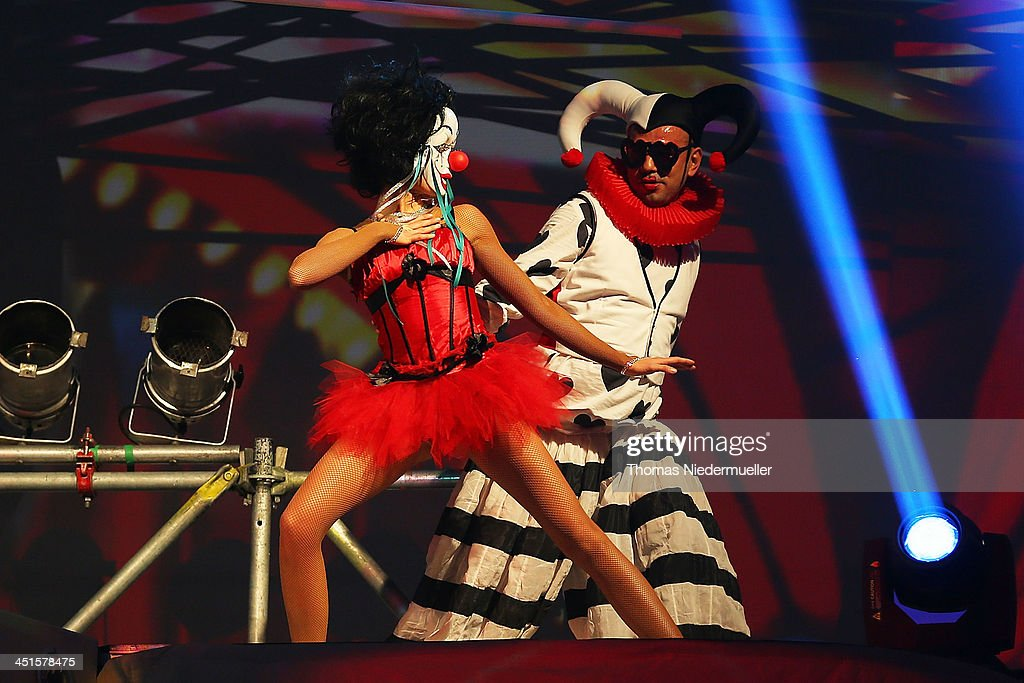 Dancers perform during the premiere show 'Circus' of DJ Bobo at Europapark on November 23, 2013 in Rust, Germany.