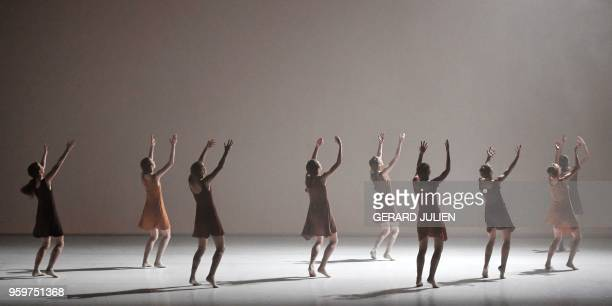 Dancers perform during the rehearsal of The Art of Not Looking Back created by Hofesh Shechter at The Garnier Opera in Paris on May 17 2018