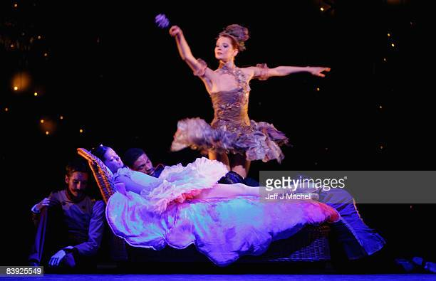 Dancers perform during the Scottish Ballet dress rehearsal for The Sleeping Beauty at the Theatre Royal on December 5 2008 in Glasgow Scotland The...