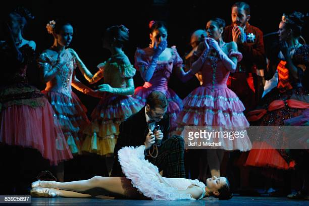 Dancers perform during the Scottish Ballet dress rehearsal for The Sleeping Beauty at the Theatre Royal on December 5 2008 in Scotland The classic...