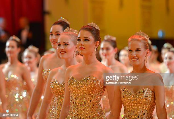 Dancers perform during the Semper Opera Ball 2015 at Semperoper on January 30 2015 in Dresden Germany