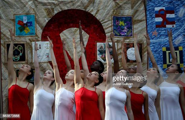 Dancers perform during the World AIDS Day commemoration event at the National AIDS Memorial Grove on December 1 2017 in San Francisco California...