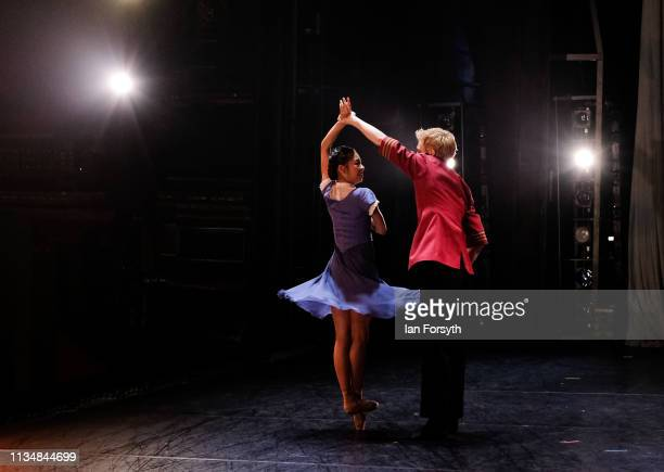 Dancers perform during the World Premier of Northern Ballet's performance of 'Victoria' at Leeds Grand Theatre on March 09 2019 in Leeds England The...