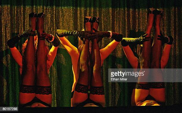 Dancers perform during the X Burlesque show at the Flamingo Las Vegas during the early morning of March 7 2008 in Las Vegas Nevada The production is...