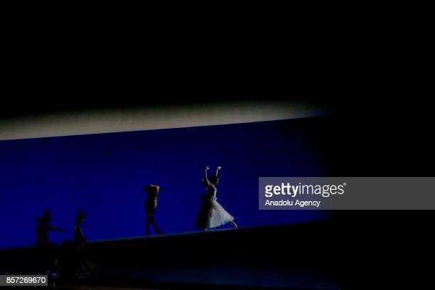 """Dancers perform for the full dress rehearsal of """"La Belle"""", a creation by French dancer and choreographer Jean-Christophe Maillot for the Monte-Carlo..."""