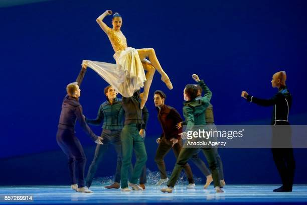 Dancers perform for the full dress rehearsal of La Belle a creation by French dancer and choreographer JeanChristophe Maillot for the MonteCarlo...