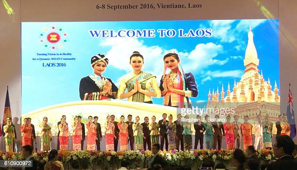 Dancers perform in a dinner event at the Association of Southeast Asian Nations summit the Laotian capital Vientiane