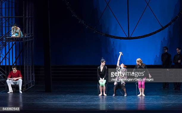 Dancers perform in the Mariinsky Ballet's production of 'Cinderella' at the BAM Howard Gilman Opera House, New York, New York, January 17, 2015....