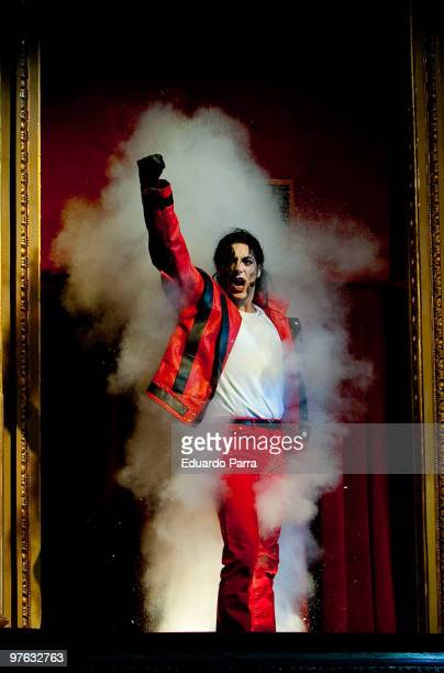 Dancers perform Michael Jackson's Thriller during the presentation of the show 'La Magia Continua. A musical tribute to Michael Jacksin' at Lope de...