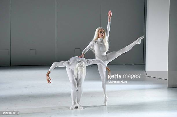 Dancers perform November Steps choreographed by Tom Gold at the 2015 Guggenheim International Gala Dinner made possible by Dior at Solomon R...