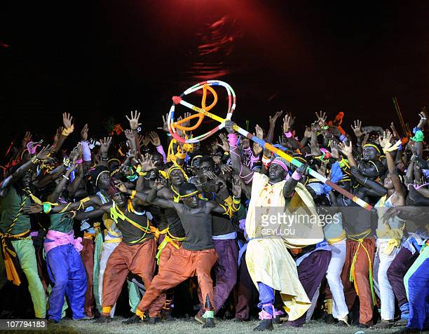 Dancers perform on December 10 2010 at Leopold Sedar Senghor stadium in Dakar during the opening ceremony of the third edition of the 'World Festival...